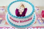 Photo frame for baby birthday cake
