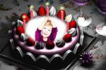 birthday cake with photo edit