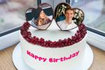 Romantic Heart Birthday Cake With Photo