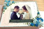 Happy Anniversary Cake With Photo And Name