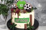Football Birthday Cake With Name And Age