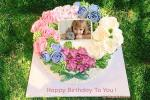 Natural Birthday Cake With Name And Photo