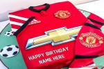 Manchester United Birthday Cake With Name
