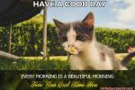 Good Morning Have A Nice Day Card With Name Pictures
