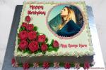 Photo Frame With Rose Birthday Cake Name