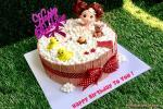 Beautiful Birthday Cake With Name For Girls