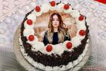 Create Free Black Forest Birthday Cake With Photo Frame Edit