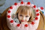 Photo Collage On Happy Birthday Cherry Cake Pic