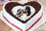 Red Velvet Chocolate Cake With Photo Frame