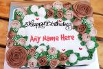 Beautiful Floral Cakes With Name Edit