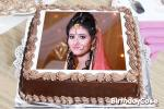 Birthday Wish Chocolate Cake With Photo