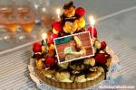 Candles Birthday Cake With Name And Photo Edit