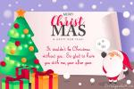 Merry Christmas Wishes and Messages Card