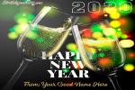 Champagne New Year 2020 Card With Name Online