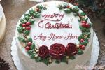 Write Name On Christmas Cakes For Everyone