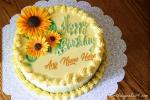 Name Birthday Wishes With Sunflower Birthday Cake