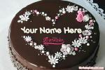 Sweetest Chocolate Birthday Cake Of Name