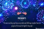 Firework Presidents' Day Greeting Cards Making Online