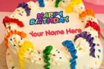 Colorful Happy Birthday Cake With Your Name Edit