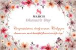 Celebrate International Women's Day with Flowers Cards