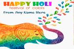 Write Name On Holi Festival of Colors Greeting Card