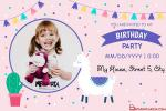 Personalized Birthday Invitation Card With Photo Free