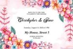 Floral Wedding Invitation Card Free Download