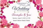 Pink Floral Wedding Invitation Cards Free Download