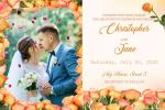 Beautiful Spring Flower Frame Invitation Wedding Card