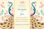 Create Wedding Invitation Cards With Peacocks