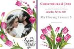Design a Beautiful Wedding Invitation Card With Flowers