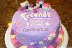 Purple Birthday Cake For Friends With Name Generator