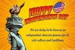 Personalize Your Own American independence Day Card