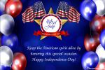 Realistic USA Independence Greeting Card Online
