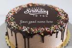 Lovely Candy Chocolate Birthday Cake By Name Generator