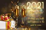 Champagne New Year's 2021 eCards & Greeting Cards Online