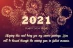 Sparkling Fireworks New Year Greeting Card 2021
