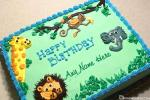 Funny Animal Birthday Cake With Name For Kids