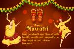 Happy Navratri Dandiya Raas Wishes Greetings Cards