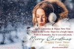 Merry Christmas And New Year 2021 Photo Frame Wishes
