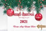 Merry Christmas & Happy New Year 2021 Card With Name Edit