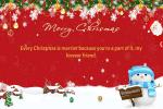It's Snowing! Make Merry Christmas Card With Name Wishes Online