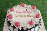 Cherry Birthday Cream Cake With Name Edit