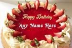 Strawberry Cake for Birthday With Name