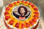 Fresh Fruit Birthday Wishes Cake With Photo Edit