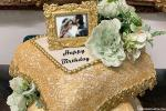 Photo On Beautiful Golden Luxury Birthday Cake Pic