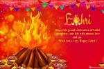 Write Name Wishes For A Happy Lohri Greeting Card
