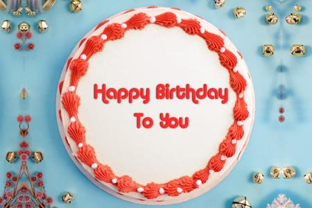 Write name on  Birthday cake 1