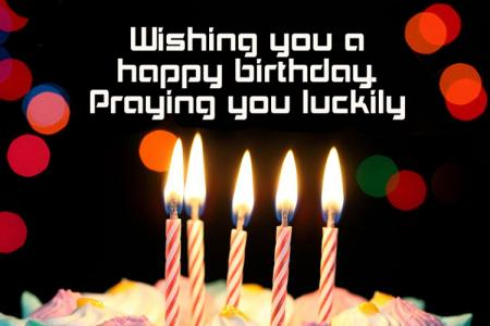 Birthday greeting card with candle