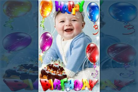Wonderful birthday photo frame